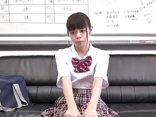 Petite Japanese Schoolgirl Gets Big Dick Surrounding Tiny Pussy