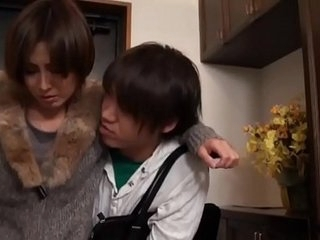 Hot Asian Japanese Old lady fucks her Young Son