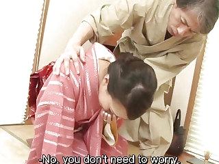 Subtitles   Japanese girls Yayoi Yanagida blows cock and fucked hard