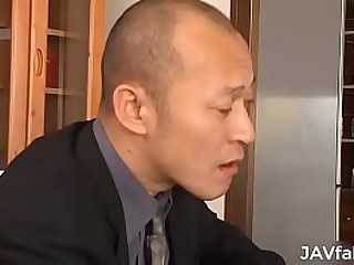 Japanese wife compel ought to repay their way husband's sally at the end of one's tether fucking some mafia guys