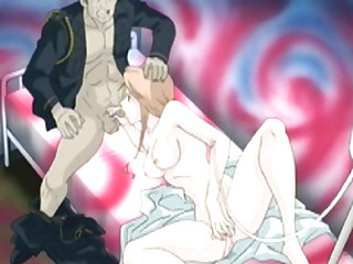 Japanese hentai self pigeon-holing pussy and sucking cock