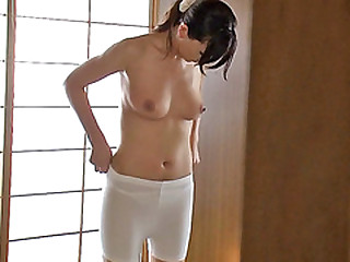 Luscious Japanese sweetie Jun lets stepbro fucks her nicely