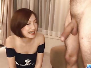 Subtitles - Japanese babe Nene Iino swell up dick