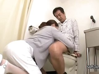 nurse Masturbation patient in john