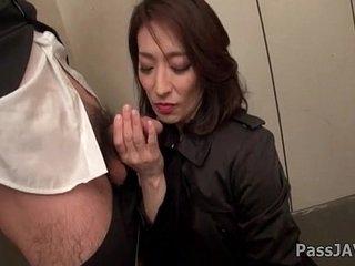 Grown up lady Marina Matsumotogoes nasty up ahead office